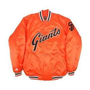 San Francisco Giants Satin Cooperstown Jacket   Orange Medium
