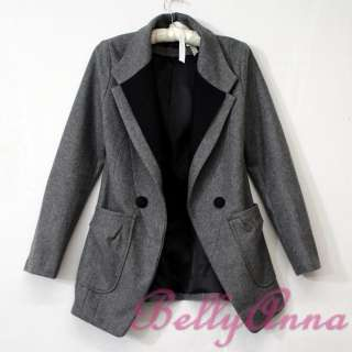 OL Ladies High Quality Wool Blazer Jacket Suit Coat Outwear Free Post