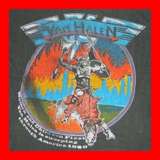 1980 VAN HALEN VINTAGE ATOMIC PUNKS ON TOUR T SHIRT 80S