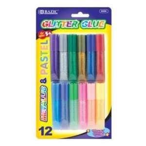 BAZIC 6ml Assorted Color Mini Glitter Glue Case Pack 144