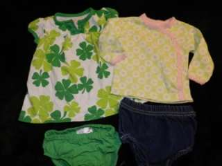 59 PIECE LOT BABY GIRLS SPRING SUMMER CLOTHES SIZE 0 3, 3 6 MONTHS