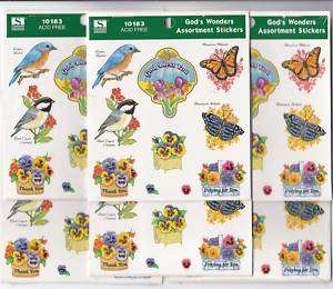LOT 6 Pads Christian Stickers Scrapbooking Card Making