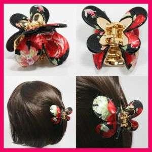 FLOWER HAIR CLIP BARRETTES HAIR ACCESSORY CLAW BOW HAT