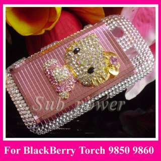 hello kitty Bling Case cover for BlackBerry Torch 9850 9860 B1