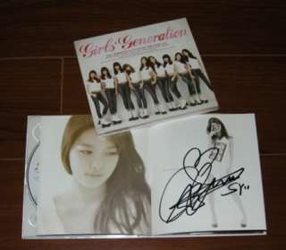 SNSD Girls Generation   GEE All Member Autographed CD