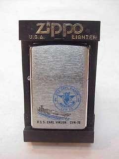 VINTAGE ZIPPO LIGHTER~USS CARL VINSON CVN 70 US NAVY