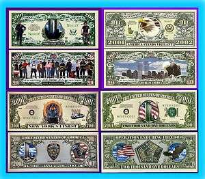 COMMERATE 911 WTC NEW YORK POLICE NOVELTY DOLLAR BILL