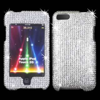 BLING RHINESTONE CASE APPLE iTOUCH 2 3 TOUCH IPOD SILVER DIAMOND WHITE