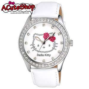 Sanrio Hello Kitty Womens Crystal Watch LK598MW White