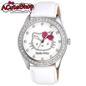 Sanrio Hello Kitty Womens Crystal Watch LK598MW White