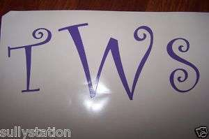 Personalized Monogram Initials Vinyl Decal 3 Letters