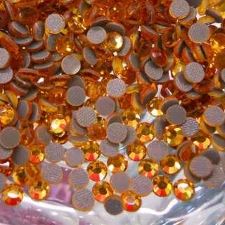 1440 DMC Iron on Hotfix Crystal Rhinestones SS20 Gold