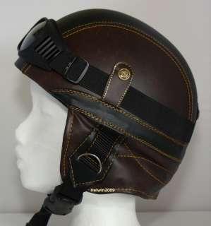 produktbeschreibung der helm ist mit braun schwarzem kunstleder