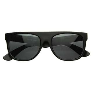 Super Retro Flat Top Sunglasses 8066 Matte Flat BLACK