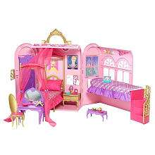 Barbie Princess Charm School Royal Bed & Bath Play Set   Mattel