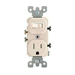 Leviton 15 Amp Light Almond Tamper Resistant Combination Switch/Outlet