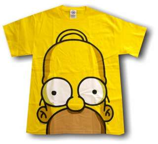 The Simpsons HOMER Big Face Logo Tee Shirt PICK SIZE