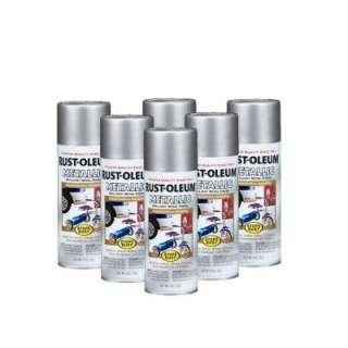 Rust Oleum Stops Rust 11 Oz. Gloss Silver Metallic Spray Paint (6 Pack