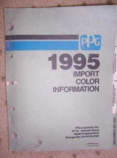 1995 PPG Auto Paint Color Manual Import Cars W |