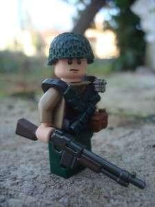 LEGO CUSTOM WW2 MINIFIG U.S. ARMY BAR GUNNER RARE EXCLUSIVE