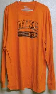 Nike I 72 Mens Long Sleeve T Shirt Orange Size 2XL Loose Fit NWoT