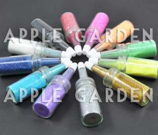 12 x BOTTLE NAIL ART GLITTER DUST DECORATION TOOL #170
