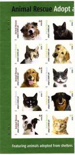 Cent Animal Rescue Adopt a Shelter Pet Self Adhesive Block MNH