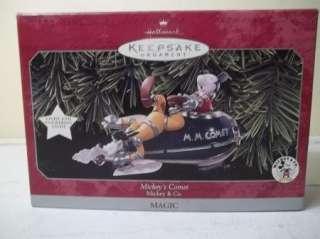 1998 Hallmark MICKEYS COMET KEEPSAKE CHRISTMAS ORNAMENT LIGHTS DISNEY