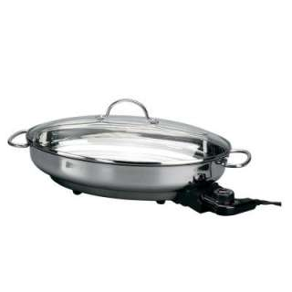 10 in. Oval Stainless Steel Electric Skillet 8285 at The Home Depot