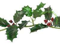 HOLLY LEAVES & BERRIES GARLAND CHRISTMAS HOLIDAY DECORATION 6g