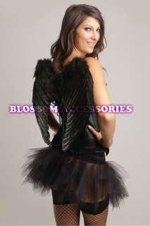 Black Dark Angel Corset Tutu Costume + Wings 8 10 12 14