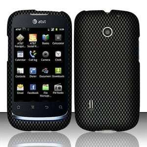 GoPhone Huawei Fusion Rubberized HARD Case Phone Cover Carbon Fiber