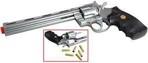 barrel 357 Magnum Airsoft Revolvers Hand guns Pistols w/Shells