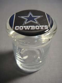 DALLAS COWBOYS LOGO ODORLESS AIR TIGHT MEDICAL GLASS JAR CONTAINER NUG