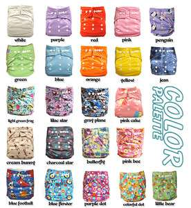 10 Snap AIO Baby Cloth Diapers nappies +10 Inserts
