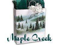 10 Winter Landscape MED Gloss Paper Gift Bags WHOLESALE