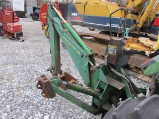GOOD JOHN DEERE 8A BACKHOE ATTACHMENT FOR TRACTORS, CAME OFF JD 1070