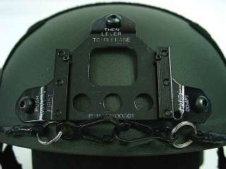 Airsoft IBH Helmet with NVG Mount & Side Rail OD