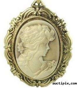 Vintage Kamee Gemme Medaillon Kette cameo STEAMPUNK victorian