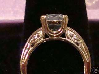 Epiphany Silver Platinum Clad Diamonique Blue Ring SZ 6