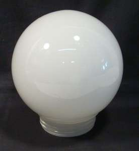 Vintage White Milk Glass Light Lamp Globe Cover Thread