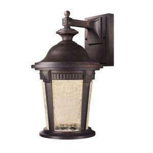 Hampton Bay Basilica Collection Wall Mount Outdoor Mystic Bronze 9 in