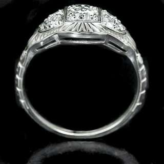 40ct DIAMOND FILIGREE ESTATE RING VINTAGE 20s ART DECO ANTIQUE STYLE