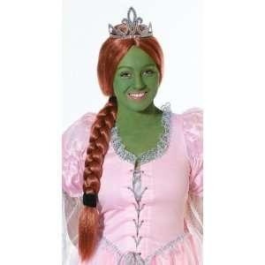 Verkleidung Prinzessin Fiona Shrek Kostüm Set mit Perücke, Diadem