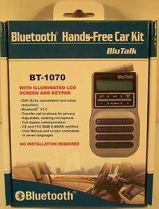 BT 1070 BLUETOOTH HANDS FREE CAR KIT V1.2