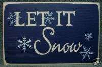 Wood Christmas Winter sign   LET IT SNOW