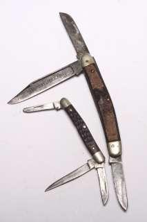 VINTAGE CASE BROTHERS FOLDING POCKET KNIFE & PREMIUM STOCK BONE HORN