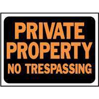 NEW LOT 10 HY KO PRIVATE PROPERTY NO TRESPASSING SIGN