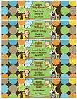 Water Bottle Label Wrapper JUNGLE BABY SHOWER BIRTHDAY PARTY REUNION
