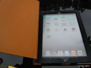 Cover Leather Pouch Case With Stand for Apple iPad 2 Black